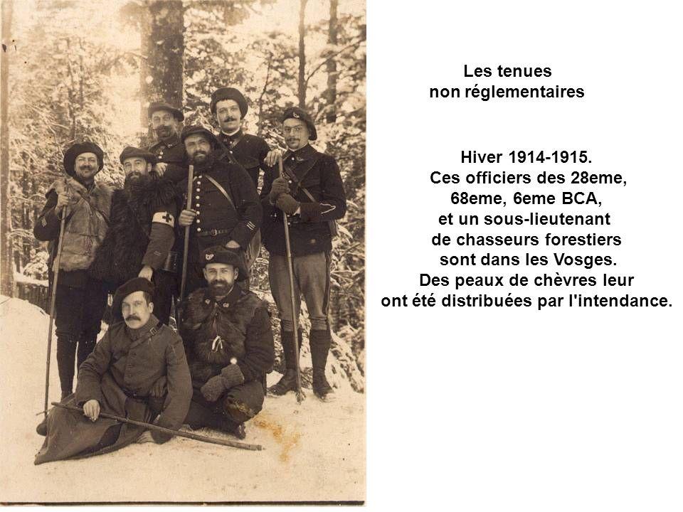 Les tenues non réglementaires des officiers de chasseurs alpins