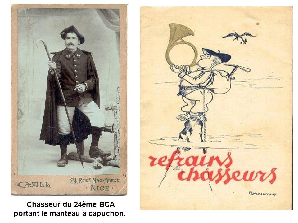 Le peloton des dispensés du 23e BCA en 1903.