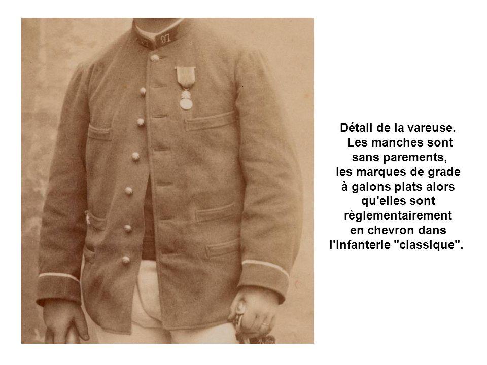 La tenue des officiers Un sous-lieutenant du 97ème RIA portant la vareuse modèle 1886.