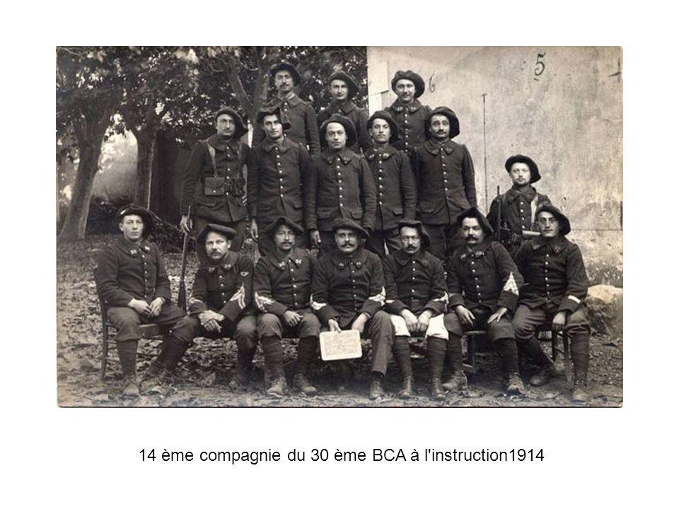 14 ème compagnie du 30 ème BCA à l instruction1914