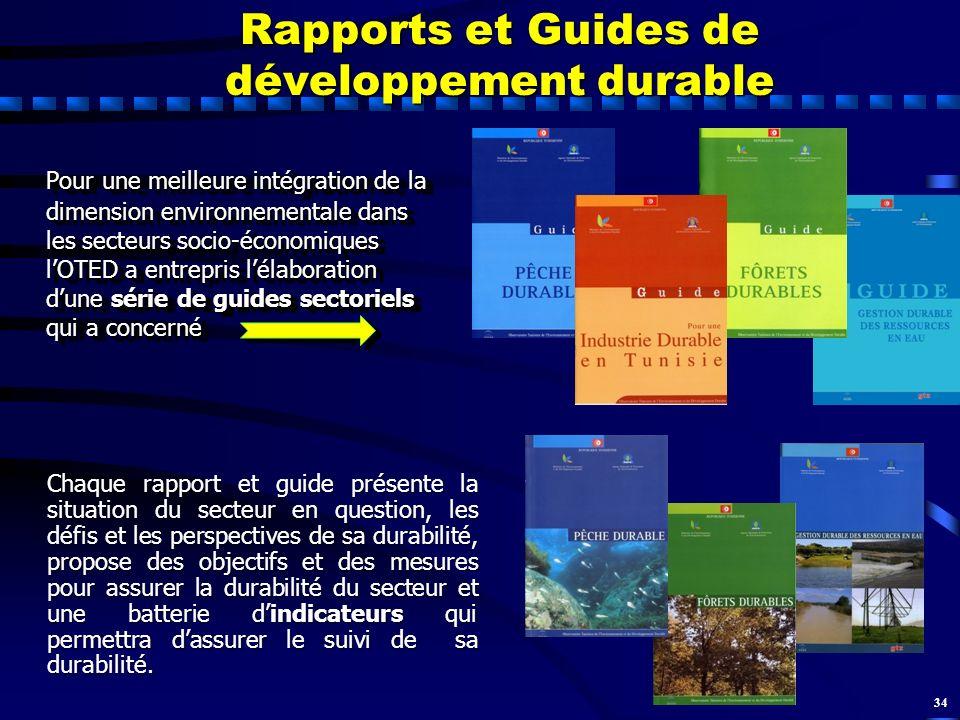 34 Rapports et Guides de développement durable Pour une meilleure intégration de la dimension environnementale dans les secteurs socio-économiques lOT