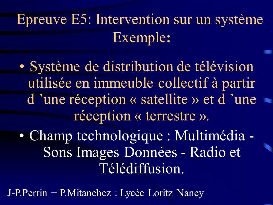 Système de distribution de télévision But : Acquérir, pendant la formation, les connaissances, les savoirs et les savoirs faire expérimentaux associés au champ technologique.