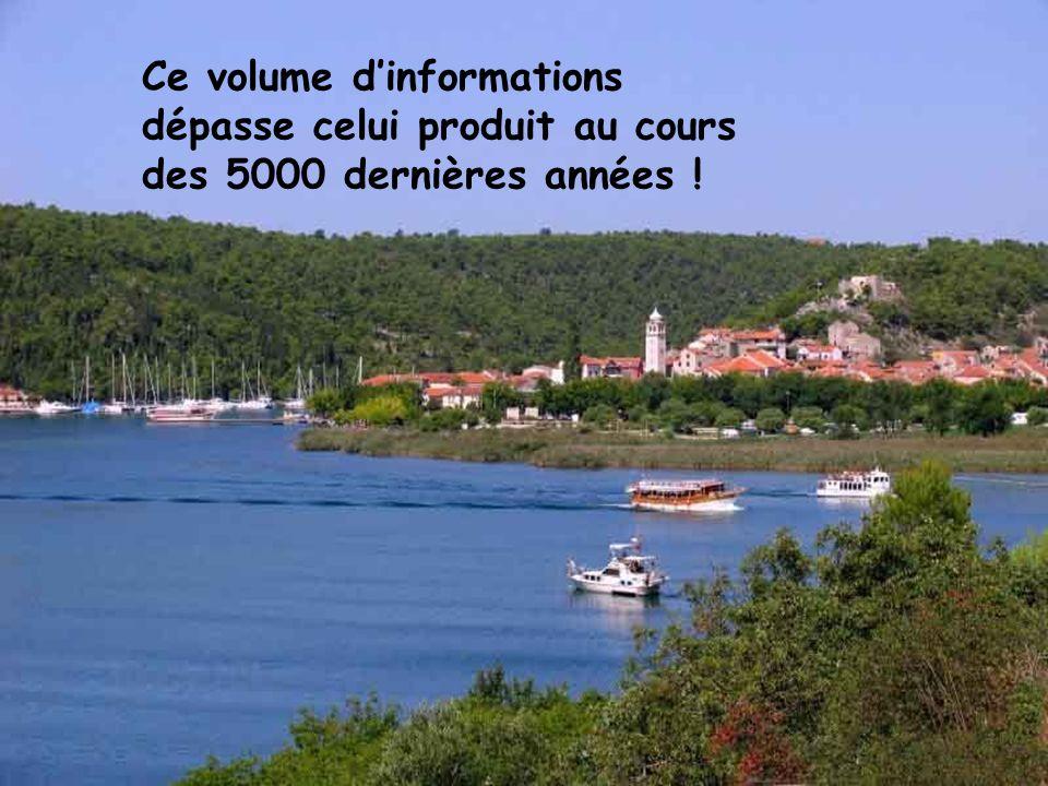 40 exabytes (soit 4x1019) de nouvelles informations sont produits chaque année