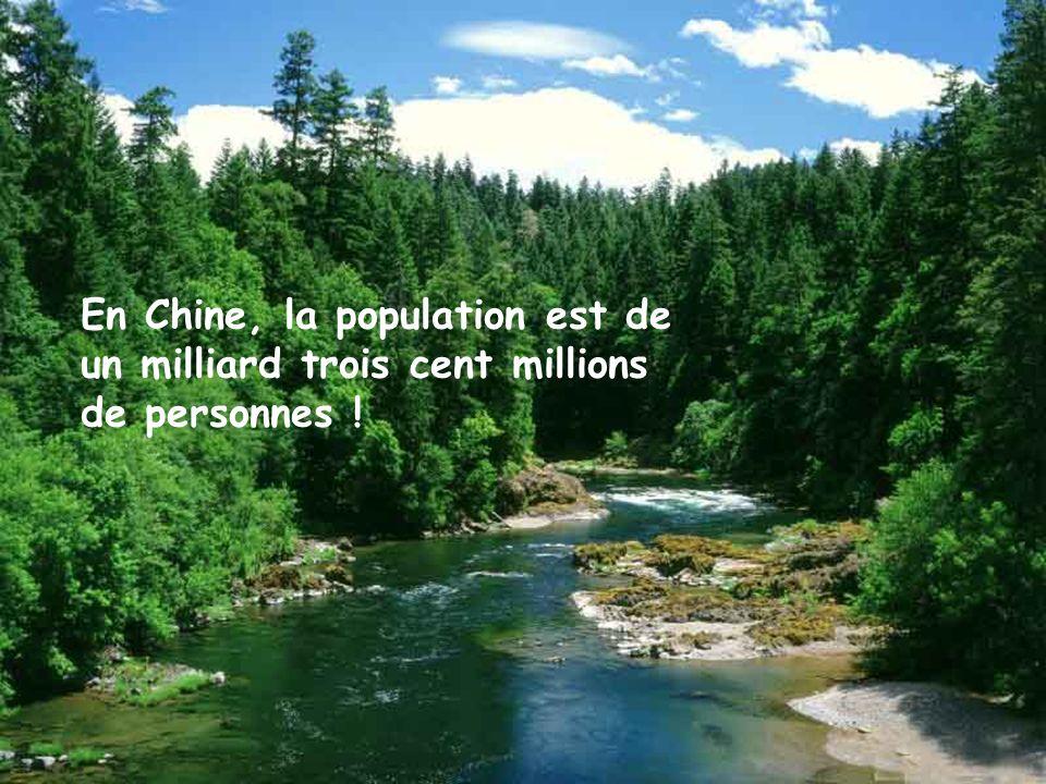 En Chine, la population est de un milliard trois cent millions de personnes !