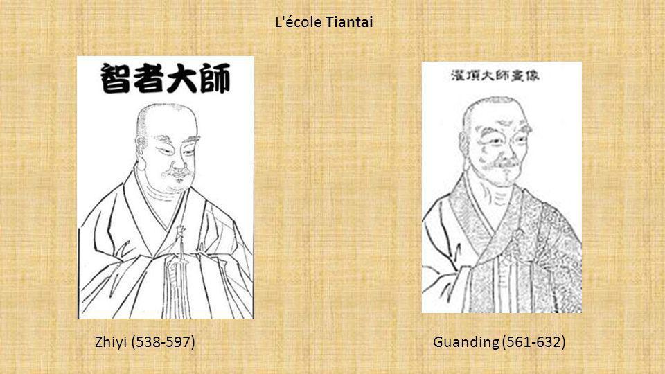Zhiyi (538-597) Guanding (561-632) L'école Tiantai