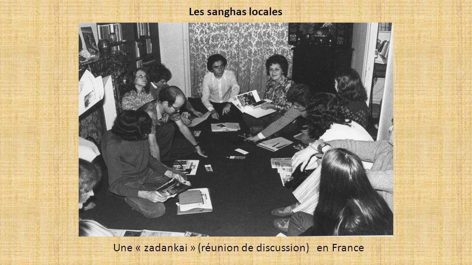Les sanghas locales Une « zadankai » (réunion de discussion) en France
