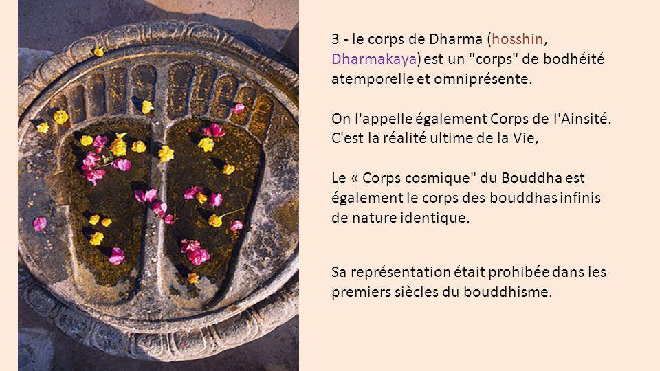 3 - le corps de Dharma (hosshin, Dharmakaya) est un