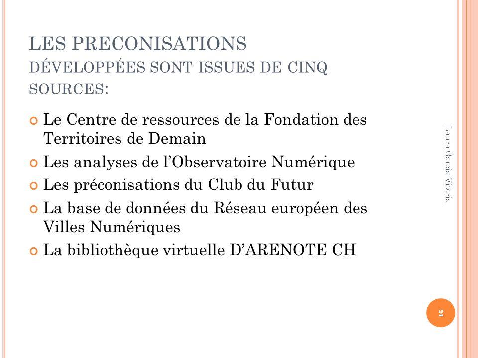 LES PRECONISATIONS DÉVELOPPÉES SONT ISSUES DE CINQ SOURCES : Le Centre de ressources de la Fondation des Territoires de Demain Les analyses de lObserv