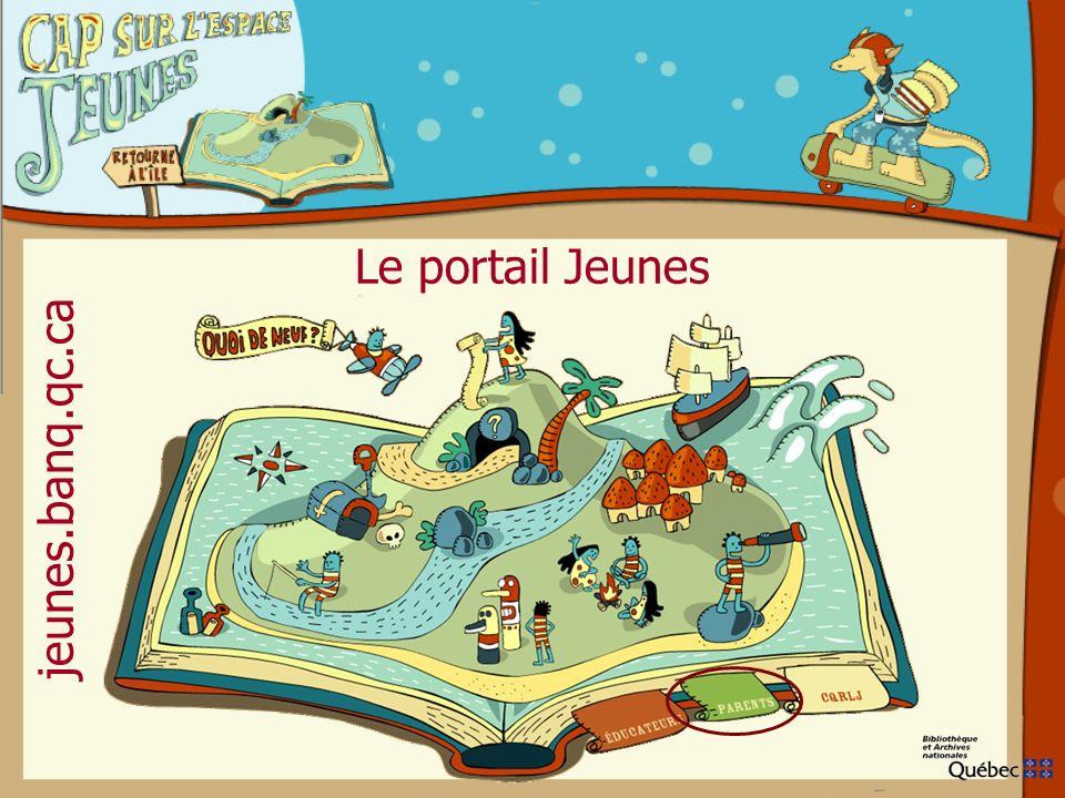 Le portail Jeunes jeunes.banq.qc.ca