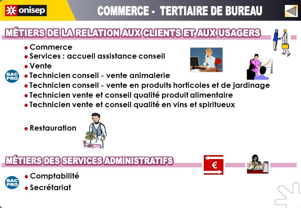 Commerce Services : accueil assistance conseil Vente Technicien conseil - vente animalerie Technicien conseil - vente en produits horticoles et de jar