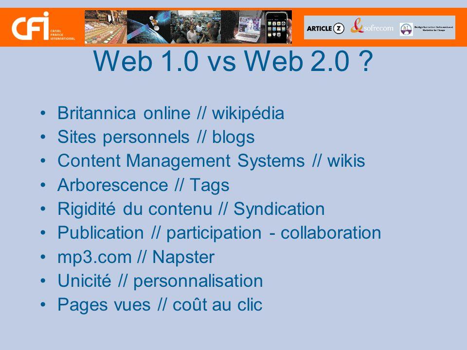 Web 1.0 vs Web 2.0 .