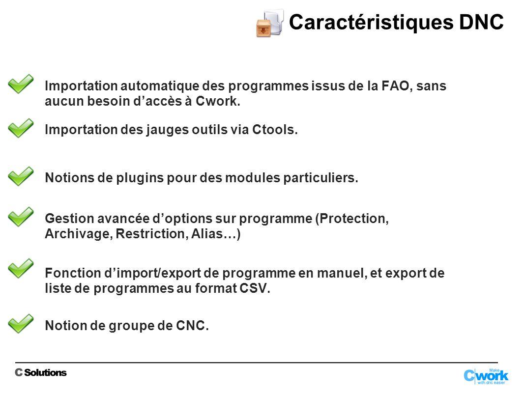 Importation automatique des programmes issus de la FAO, sans aucun besoin daccès à Cwork.