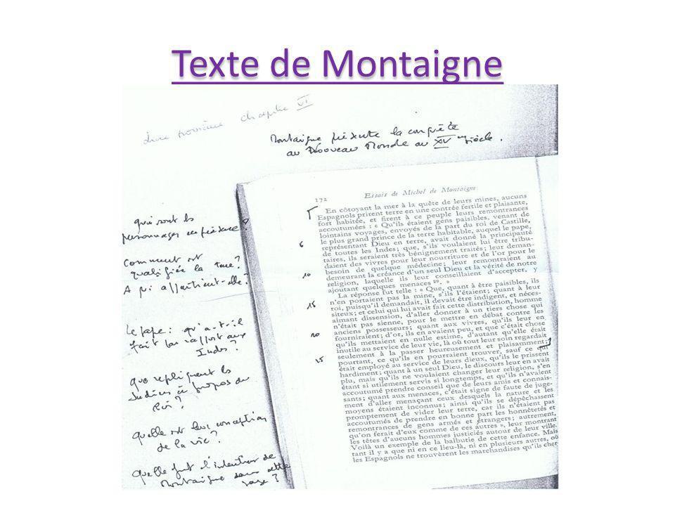 Texte de Montaigne