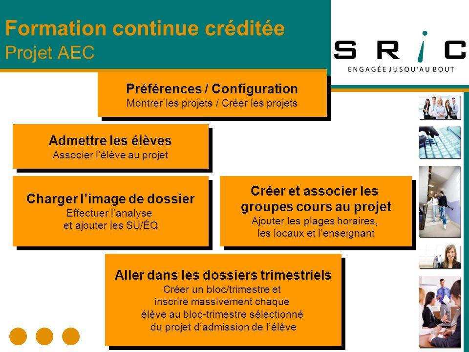Démonstration Formation continue créditée Projet AEC