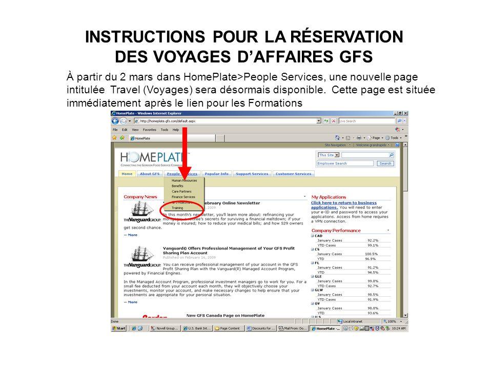 Portail de Voyage de GFS 1.Allez à www.gfstravel.com.