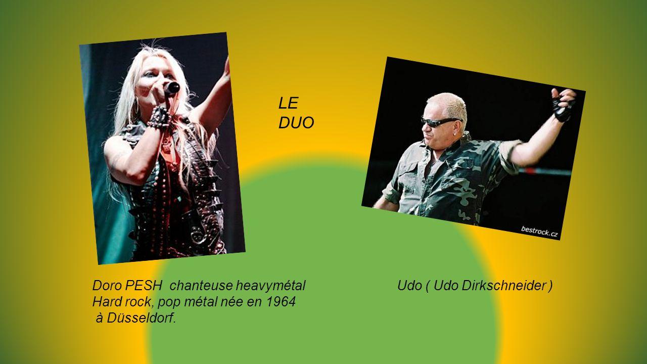 Doro PESH chanteuse heavymétal Udo ( Udo Dirkschneider ) Hard rock, pop métal née en 1964 à Düsseldorf.
