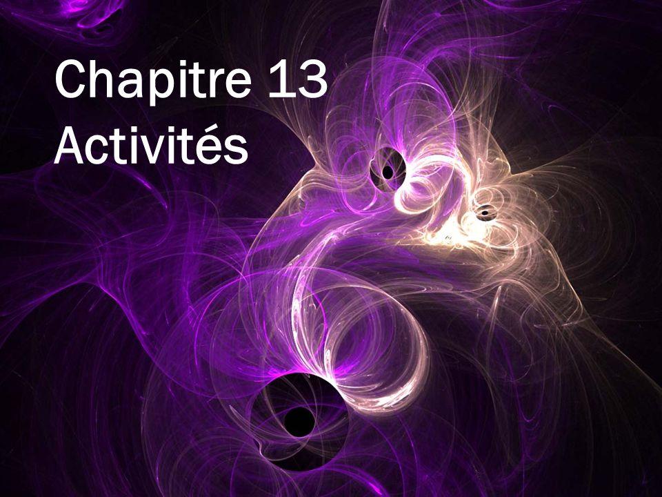 Chapitre 13 Activités