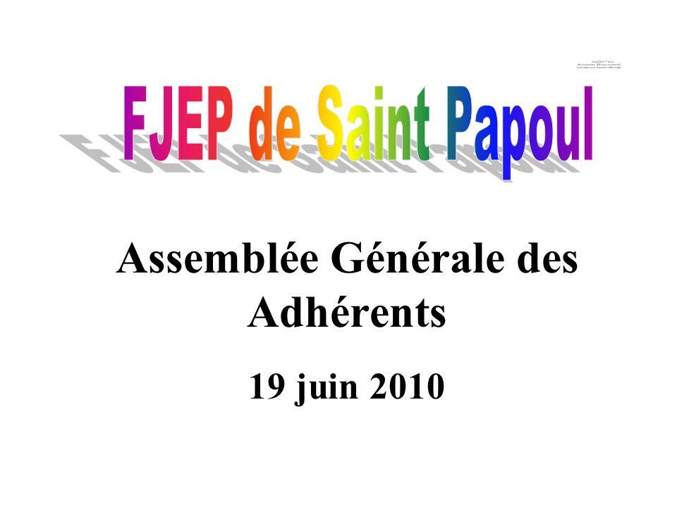 Assemblée Générale des Adhérents 19 juin 2010
