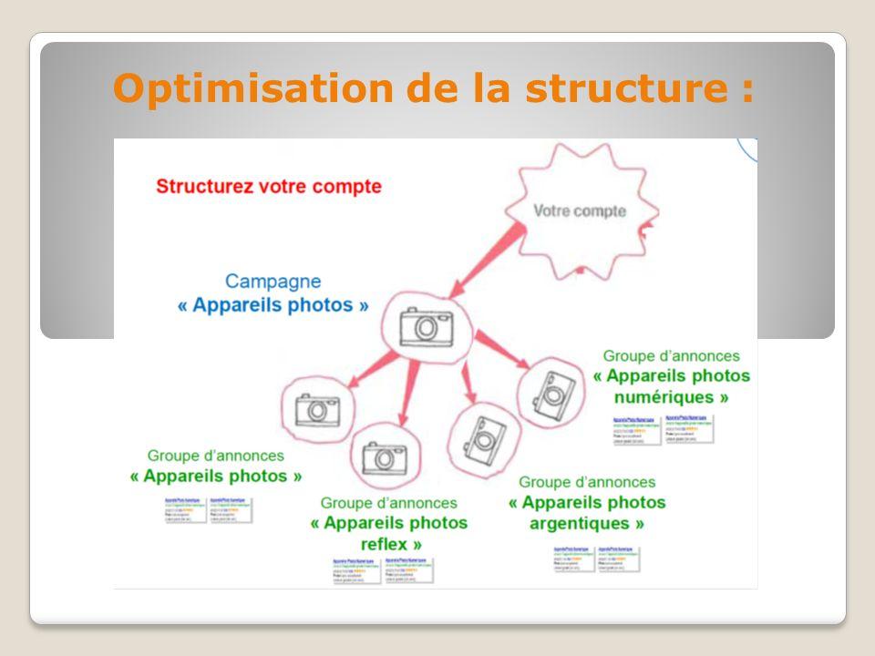 Optimisation de la structure :