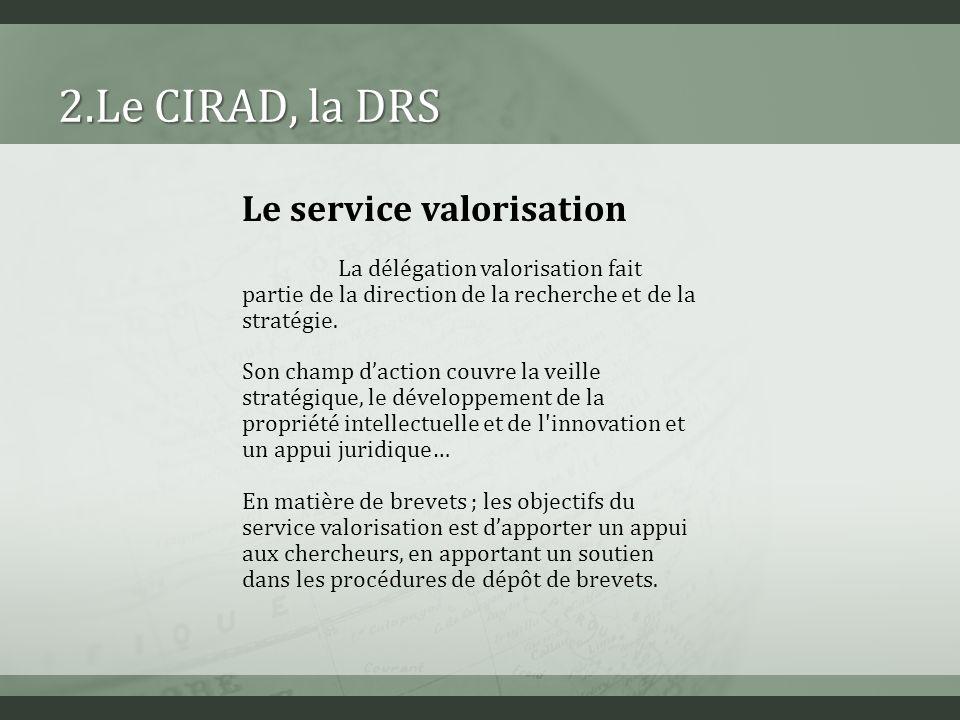 Objectifs Nous allons étudier le positionnement du CIRAD vis-à-vis des centres denseignement de la région.
