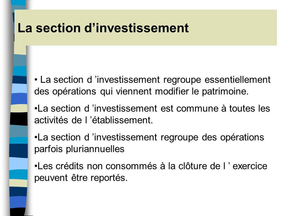 SECTION D'EXPLOITATION DU BUDGET GENERAL SECTION D'INVESTISSEMENT Charges Produits Fonctionnement Emplois Ressources Développement BUDGETS ANNEXES La