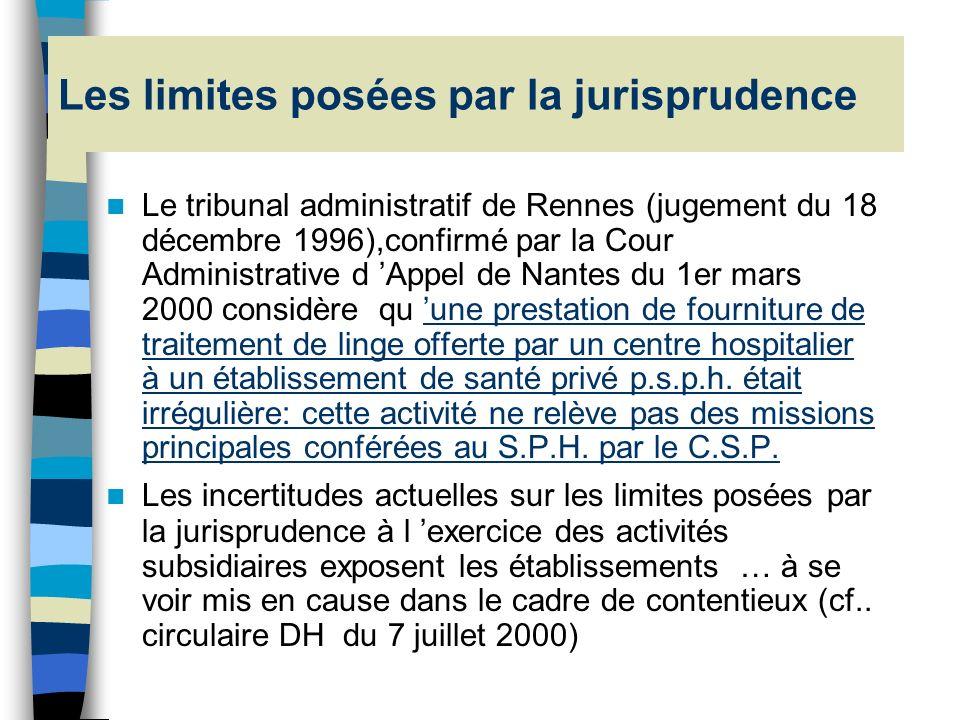 La notion dactivités subsidiaires (art. L 6145-7 & R 714 3 48 du CSP) Dans le respect de leurs missions de service public et dans la limite des moyens