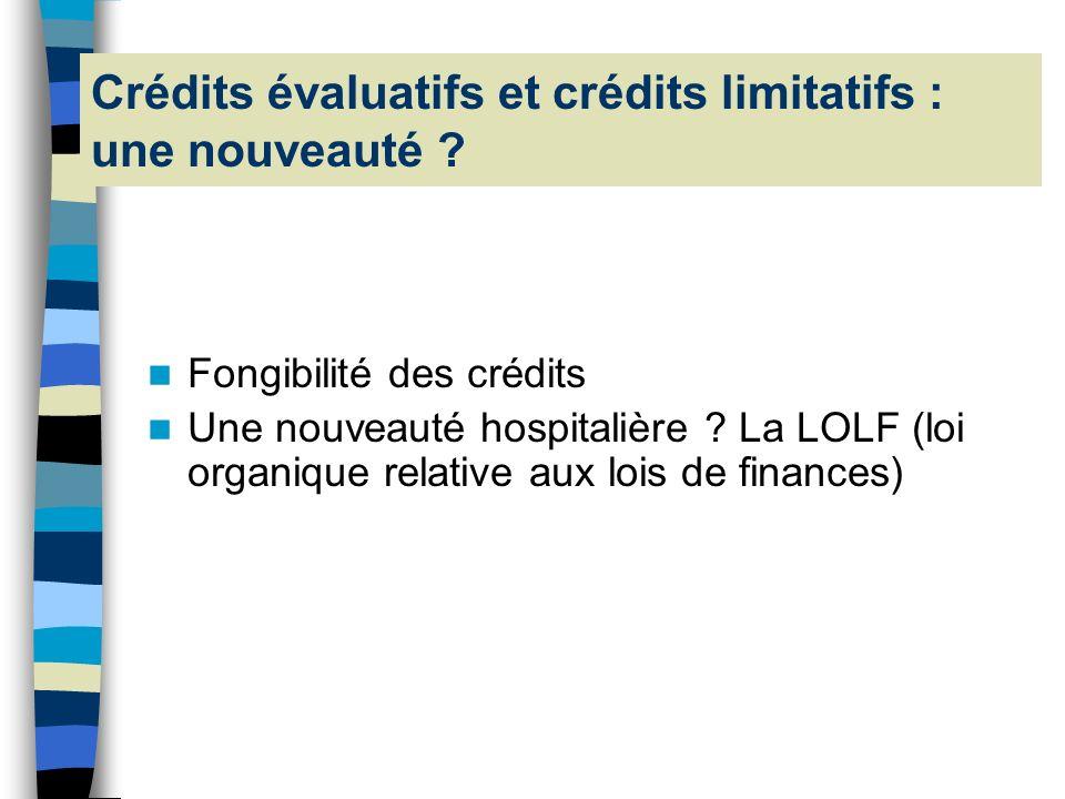 Une nouveauté : crédits évaluatifs et crédits limitatifs (2) En provenance de…Vers…Réponse ? Recettes pérrenes Dépenses pérennes ou non pérennes OUI R