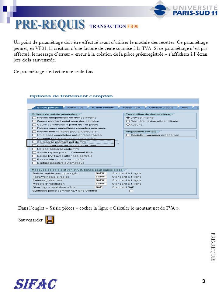4 Cliquer sur Saisir RECETTE dans le champ « Variante ».