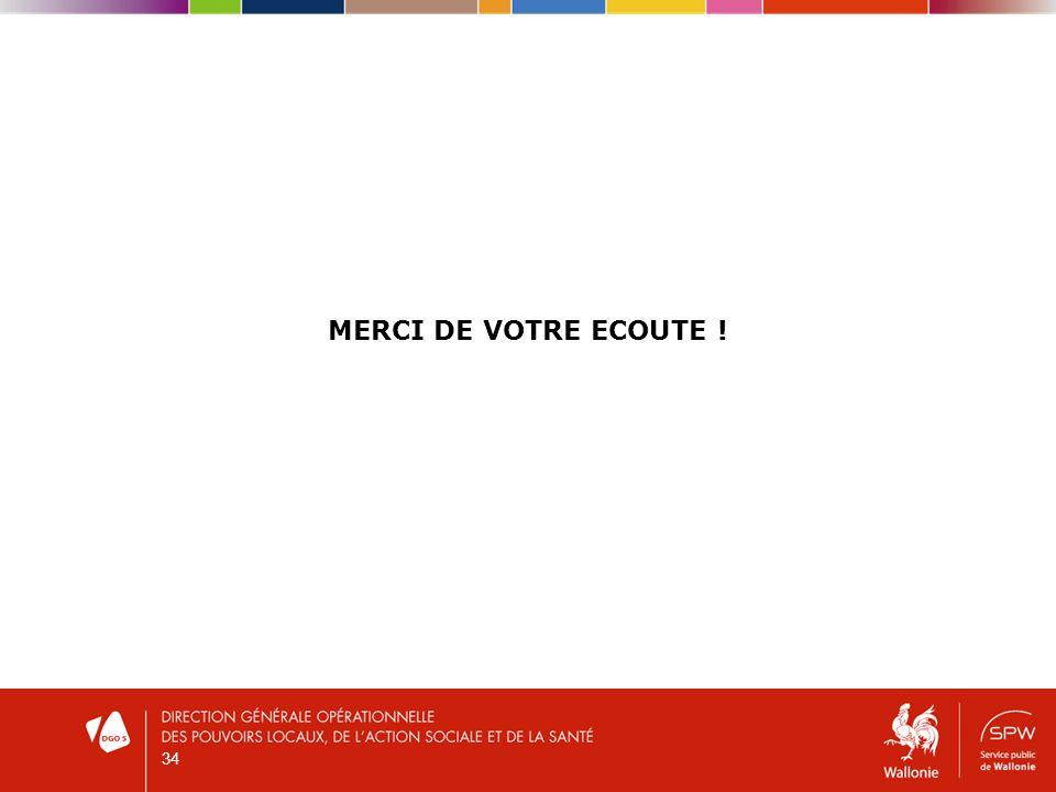 MERCI DE VOTRE ECOUTE ! 34