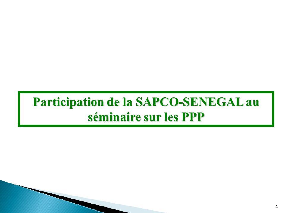 2 Participation de la SAPCO-SENEGAL au séminaire sur les PPP