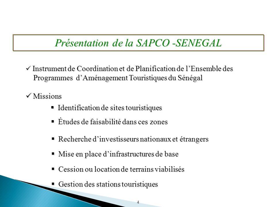4 Instrument de Coordination et de Planification de lEnsemble des Programmes dAménagement Touristiques du Sénégal Instrument de Coordination et de Pla