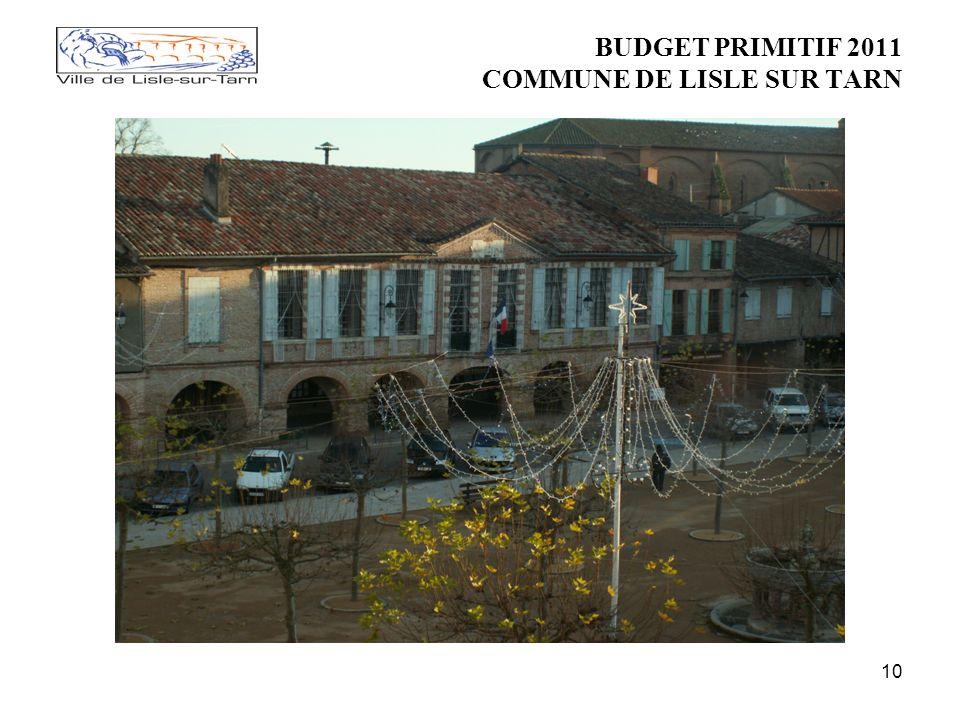 10 BUDGET PRIMITIF 2011 COMMUNE DE LISLE SUR TARN