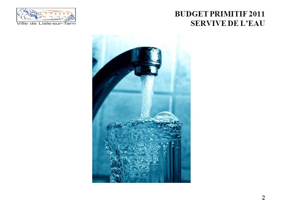 2 BUDGET PRIMITIF 2011 SERVIVE DE LEAU