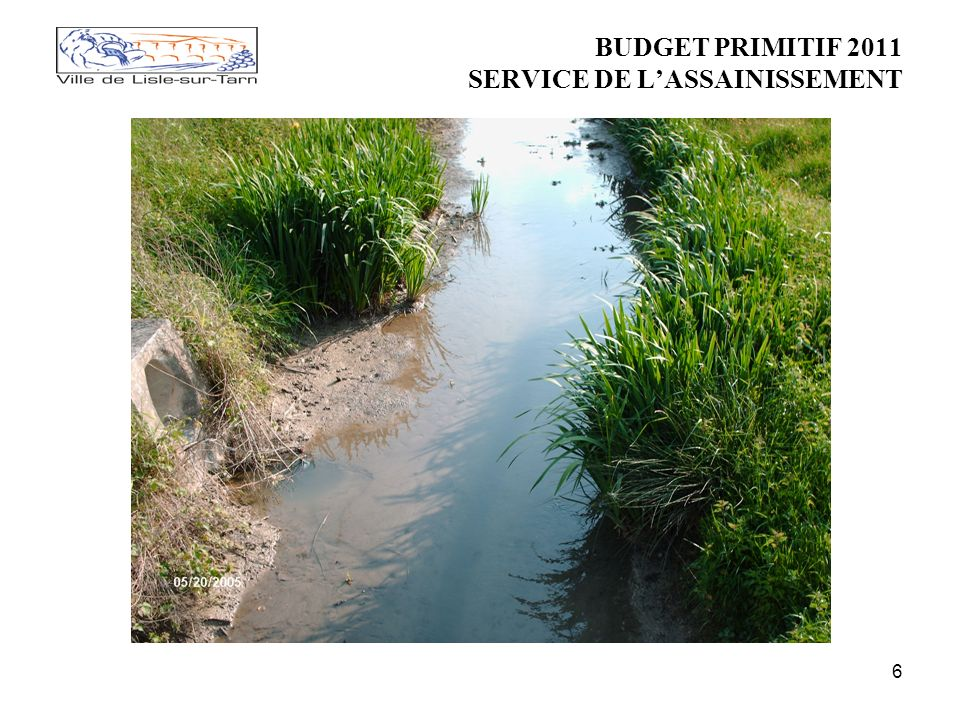 6 BUDGET PRIMITIF 2011 SERVICE DE LASSAINISSEMENT