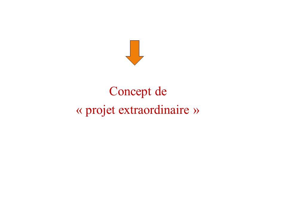 Concept de « projet extraordinaire »