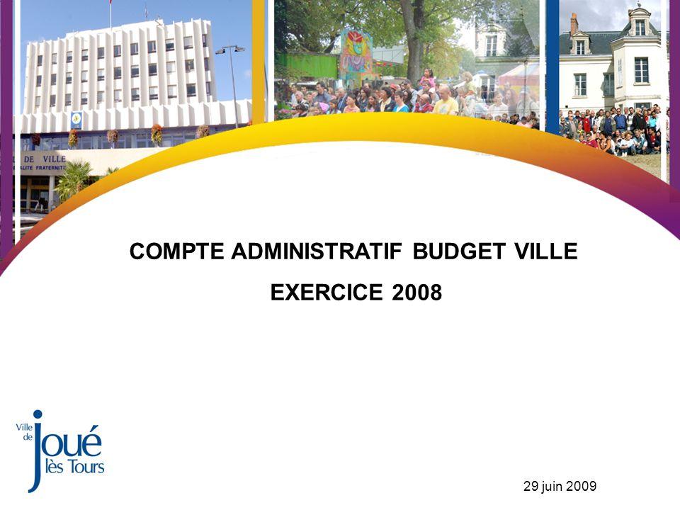 COMPTE ADMINISTRATIF BUDGET VILLE EXERCICE 2008 29 juin 2009