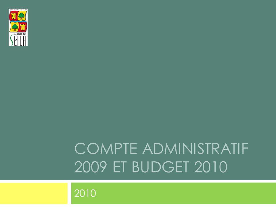 COMPTE ADMINISTRATIF 2009 ET BUDGET 2010 2010