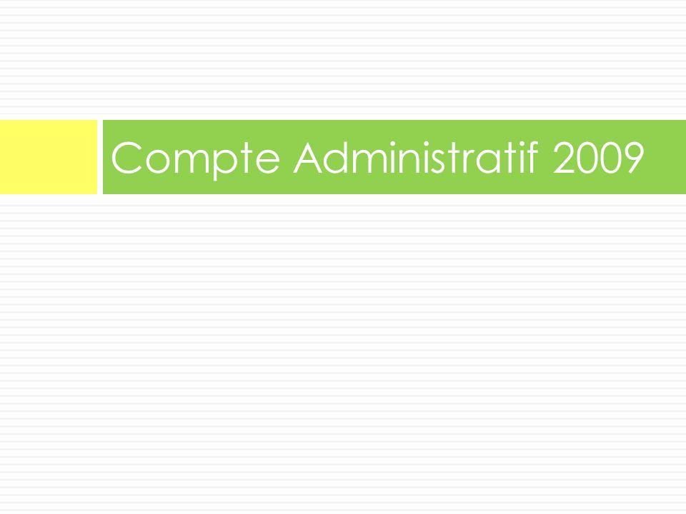 Compte Administratif 2009