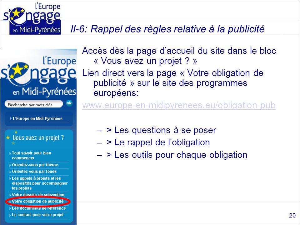 Accès dès la page daccueil du site dans le bloc « Vous avez un projet ? » Lien direct vers la page « Votre obligation de publicité » sur le site des p
