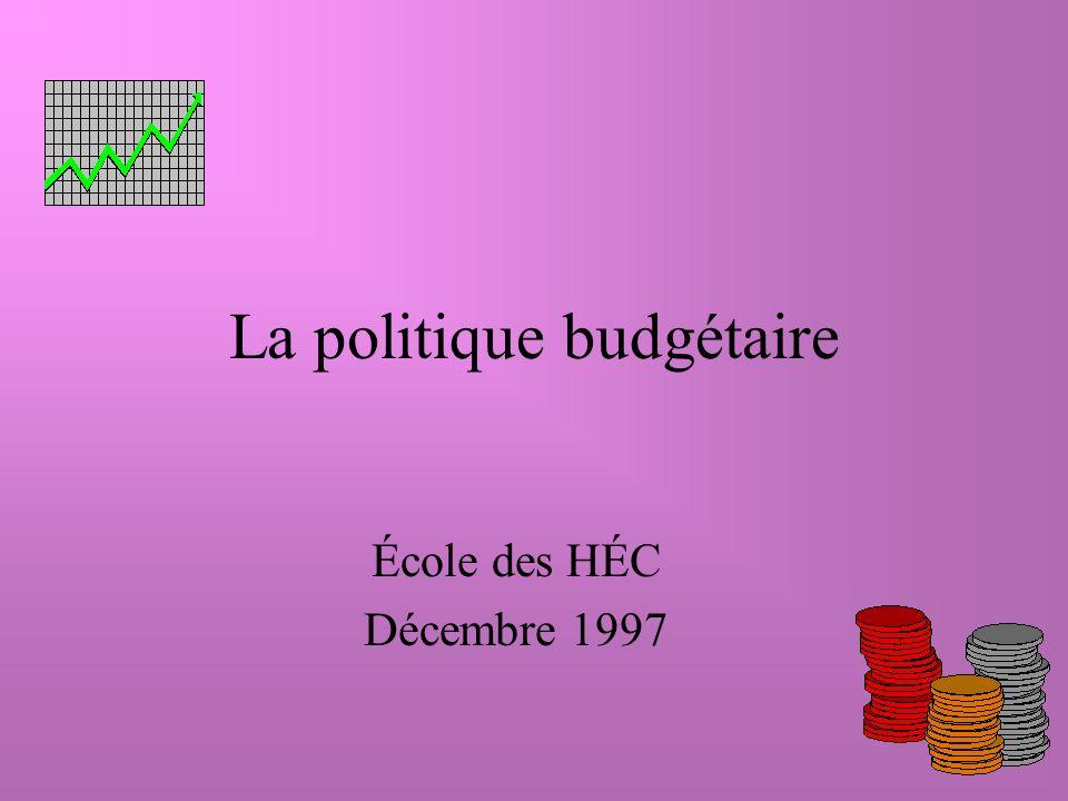 La politique budgétaire École des HÉC Décembre 1997