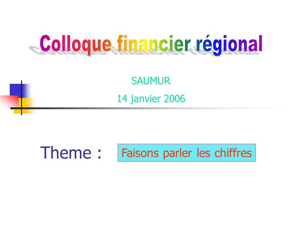 14/01/2006Réunion Saumur2 Analyse des comptes des Eglises locales Indicateurs et ratios choisis Exploitation Faisons parler les chiffres