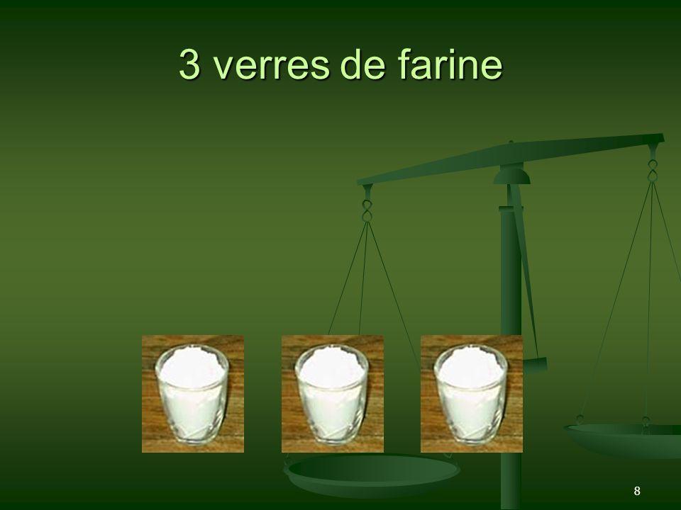 8 3 verres de farine