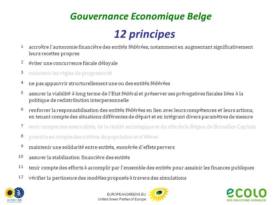 EUROPEANGREENS.EU United Green Parties of Europe 1 accro î tre l'autonomie financi è re des entit é s f é d é r é es, notamment en augmentant signific