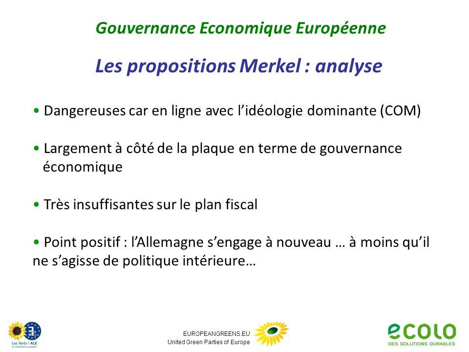 EUROPEANGREENS.EU United Green Parties of Europe Dangereuses car en ligne avec lidéologie dominante (COM) Largement à côté de la plaque en terme de go