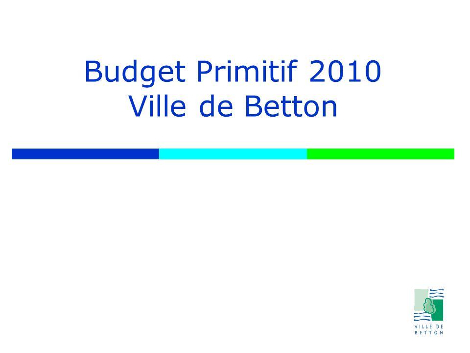 Budget Primitif 2010 Ville de Betton