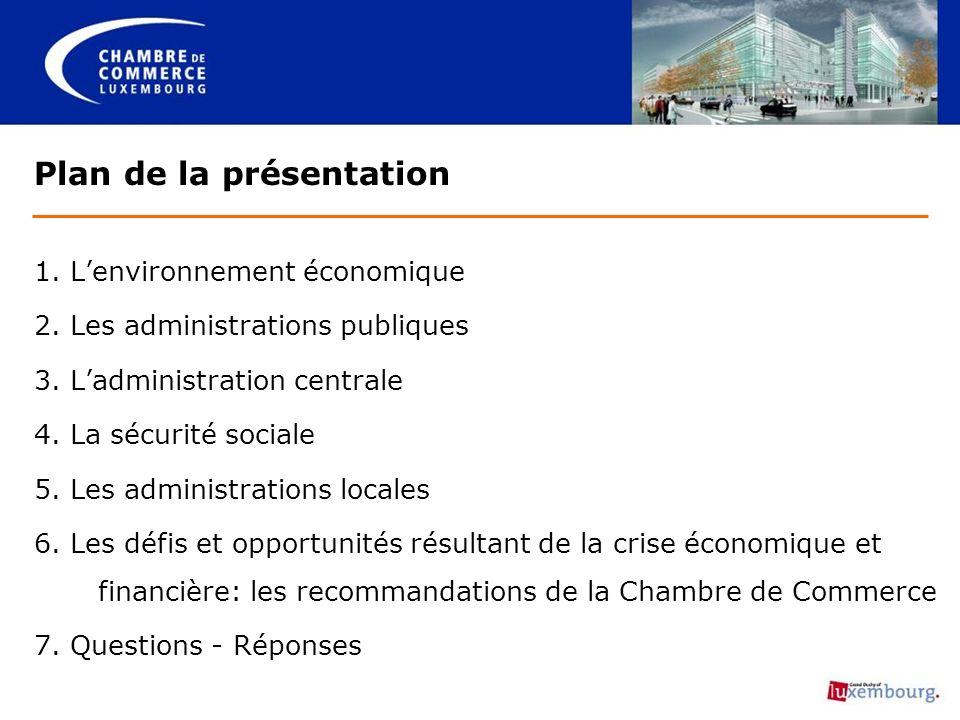1. Lenvironnement économique 2. Les administrations publiques 3.