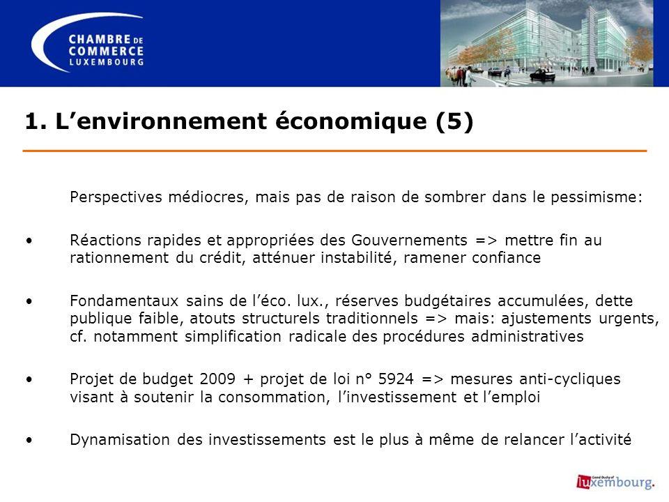 Mises en garde: Politique de stimulation de la consommation pourrait demeurer partiellement inopérante (cf.