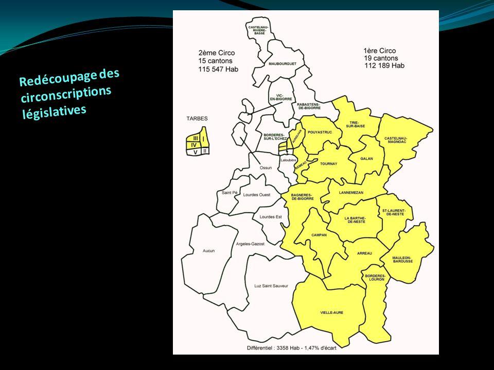 Redécoupage des circonscriptions législatives
