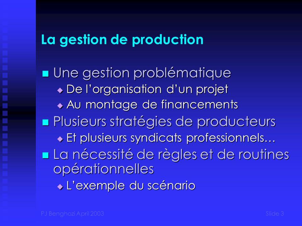 PJ Benghozi April 2003Slide 34 Concentration dans lexploitation