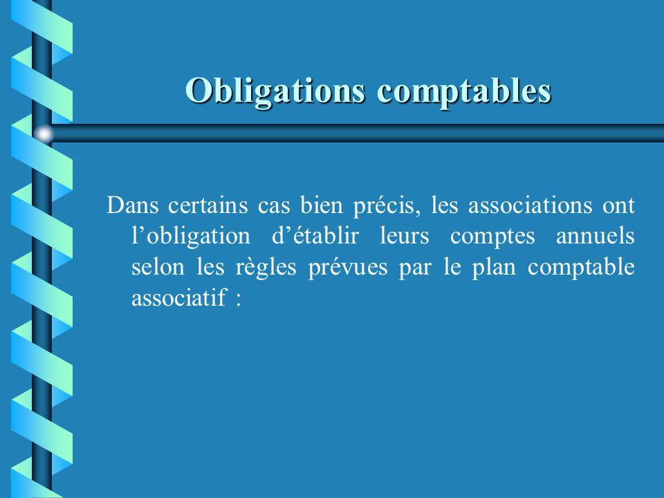 Obligations comptables b b Juridique : pouvoir présenter des comptes clairs et précis à toute demande des autorités ou services autorisés. En aucun ca